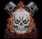King of the Road Hoodie engine choopers biker skull