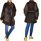 $280 Diesel Oversized Trench Coat Anorak Plum Brown Spring Summer Fall Any Size