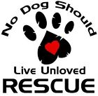 No Dog Should Live Unloved Rescue Tshirt pet breed mutt