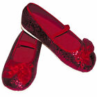 Girls Red Glitter Flower Girl Bridesmaid Party Shoes