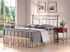 5ft King size silver grey metal bed frame bedstead. High head & foot end