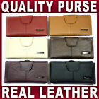 Ladies Quality Leather Purse wallet coin bag 6 colours