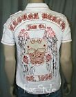 Laguna Beach Jeans White Red Skull Button Down shirt