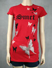 SMET Christian Audigier stones Butterflies T-shirt red