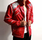 CHILD Michael Jackson MJ Costume Beat It Red Jacket Top