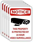 VIDEO SURVEILLANCE 12x18 ALUMINUM SIGNS - ENGLISH or SPANISH *5 PACK*