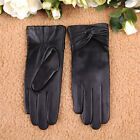 Women GENUINE LEATHER Fashion winter warm gloves lined