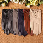 Women's GENUINE LAMBSKIN leather gloves unlined 3 color