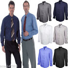 Mens Oxford Shirt Smart Office Dress Shirt Size Small to 3XL New Cotton Rich