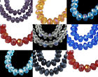 Crystal Faceted Rondelle Glass Beads 10x8mm 10pcs- Pick.