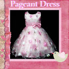 Pinks Christmas Annual Wedding Party Flowers Girls Pageant Dresses SZ 4-5-6-7-8Y