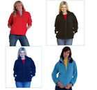 Ladies Girls Fleece Jacket Full Zip Premium UK 8 - 22  XS - 4XL Plus Size
