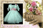#P05 Pinks White Wedding Party Girls Dress + Cardigan Set SZ 2-3-4-5-6-7-8-9-10Y