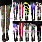 Women Rock Punk Funky Sexy Soft Lycra Spandex Leggings Pants