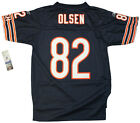 Youth sized NFL Chicago Bears Greg Olsen #82 Navy Blue Throwback Football Jersey on eBay