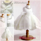 Off White Baptism  Communion Wedding Girls Party Dresses AGE SIZE 2-3-4-5-6-7-8Y