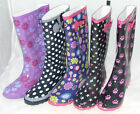 LADIES / WOMENS FUNKY PATTERNED WELLINGTON BOOTS / FESTIVAL BOOTS / WINTER BOOTS