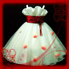 AU1811#R818 Reds Christmas Wedding Party Flower Girls Dress AGE 2-3-4-5-6-7-8-9Y