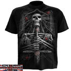 SPIRAL DIRECT SPIDER CRYPT T-SHIRT GOTHIC WEB SWORD PENTAGRAM SKELETON