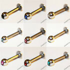 DIAMANTE JEWEL JEWELLED CRYSTAL GEM LABRET TRAGUS MONROE LIP BAR STUD PIERCING