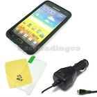 Silicone Case Cover Samsung Galaxy Note GT-N7000 Screen Protector + Car Charger