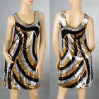 Sexy Ladies Cocktail Party&Casual&Dance Fashion Bling Sequin Dress 6-10 160