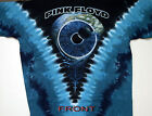 "PINK FLOYD ""PULSE"" 2-SIDED TIE DYE T-SHIRT NEW"