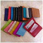 Genuine Eel Leather Business Card Id Case Wallet 21 Colours