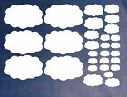 Sheet of 29 Medium CLOUDS Kids Bedroom/Room Wall/Cupboard Art Stickers/Transfers