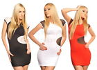 New Ladies Sexy Sheer Bodycon Mini Dress Clubwear Top Tunic 4088