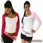 NEW SEXY WOMENS JUMPER SIZE 6 8 10 12 SWEATER CLUB WEAR TOP PINK WHITE S M L