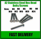 A2 Stainless Steel Hex Head Set Screw Bolts - M6