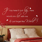 LARGE IF I LAY HERE SNOW PATROL With Butterflies Wall Art Stickers, Wall Art