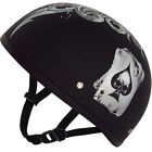 SKULL OF SPADES Daytona DOT Motorcycle Half Helmet LOW PROFILE All Sizes D6SP