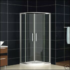 Walk In Quadrant Shower Enclosure Cubicle Glass Sliding Door with Stone Tray