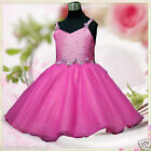 Hot Pinks Princess Fairytale Party Flower Girls Dresses  AGE 2,3,4,5,6,7,8,10,12