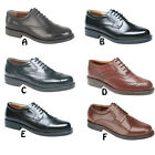 Mens New  Black / Brown Leather Gibson Oxford Brogues Shoes 6 - 14