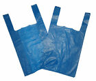 "Plastic Carrier Bags BLUE VEST Medium Strong 11""x17""x21"" 14Mu Suparmarket"