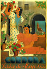 Cordoba May 1936 Fashion Girls Flowers Spain Tourism Vintage Poster Repo FREE SH