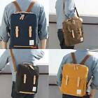 BRAND NEW CANVAS PU LEATHER MENS BAG VINTAGE STYLE SCHOOL BOOKBAG BACKPACKS BAGS