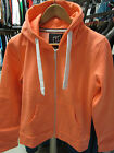 URBAN DIVA LADIES GIRLS NEON ORANGE PLAIN HOODED TOP ZIP HIPHOP JACKET HOODIES
