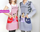 Cute Dog Waterproof Overalls / Fashion Sleeveless Kitchen Aprons