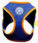 Choke Free Dog Harness Jersey Step In Sport Mesh Blue Orange Yellow by Gooby