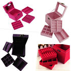 UK Location! Wholesale New Suede Jewelry Wedding Gift Storage Box Case 4 Colors