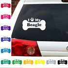 Dog breed I Heart  love my beagle decal Dogs  Puppies