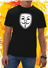 T-SHIRT UOMO MASCHERA V PER VENDETTA FOR GUY FAWKES MASK COOL SHIRT