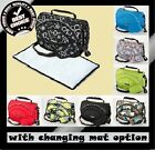 BABY PRAM STROLLER PUSHCHAIR CHANGING DIAPER BAG FREE CHANGING MAT 22 COLOURS