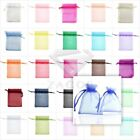 20pcs 70x90 Rectangle Organza Fashion Pouches Bags 20colors Wholesale Free Ship