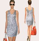 Hot Ladies Cocktail&Evening Party Bridesmaid Bling Sequin Dance Body Dress 809