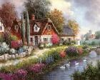 Cottage At Road Art Canvas Poster Print Artwork New